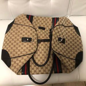 100% Authentic Vintage Gucci Duffle Bag